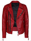 New Soft Real Lambskin Leather Black Motorcycle Biker Jacket Bomber Fashion 177