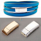 Strong Curve Magnetic Clasp for Flat Leather Cord GOLD SILVER Jewellery Findings