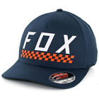 "Fox Head ""Check Yo Self"" FlexFit Hat (Midnight) Men's Precurved Stretch Cap"