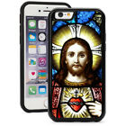 For iPhone X XS Max XR 7 8 Plus Shockproof Hard Soft Case 224 Jesus Stain Glass
