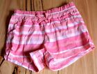 H & T Girls Printed Shorts - PINK  STRIPE- SIZES - 1,2,3,4,5,6 & 7 YEARS - NEW