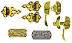 Solid Brass Icebox Hardware: Hinges, Latches, Nameplates, Per each or in Sets