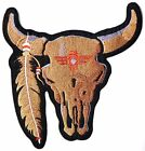 """9.5"""" Bison Bull Native Indain American Patch Iron on Jacket Vest T shirt Costume"""
