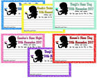 HENS NIGHT / BRIDAL SHOWER/ KITCHEN TEA ADVICE CARDS X 10 PERSONALISED