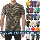 PROCLUB Mens T Shirts HEAVY BIG AND TALL TEE Hip Hop short Sleeve XL-5XL Plain image