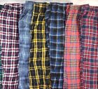 Lot of 6 Random Men's Cotton Flannel Plaid Patterned Pajama Pants S M L XL 2XL