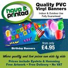 Personalised Heavy Duty PVC Vinyl Indoor/Outdoor Banners Birthdays Celebrations