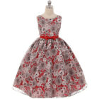 BLACK Flower Girls Dress Wedding Birthday Gown Graduation Formal Party Rectical