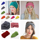 Ladies womens winter headband wrap earmuff hair band warm knitted ski turban