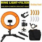 "14"" 40W LED Dimmable Ring Fluorescent Photography light & Desktop Stand Bracket"