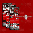 Houston Rockets Ticket Style Custom Sports Party Invitations on eBay
