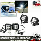 Pair 4INCH 36W CREE LED WORK LIGHT BAR Flood OFFROAD ATV FOG TRUCK LAMP 4WD 12V