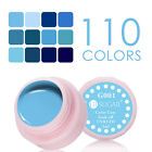 5ml Soak Off Nail Art UV Gel Polish Blue Color Coat  Varnish G001-012