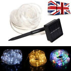 12m LED Solar Strip Rope Light Waterproof Wedding Party Garden Lawn Decor Lamp