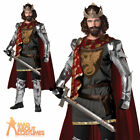 Adult King Arthur Costume Mens Medieval Knight Warrior Fancy Dress Outfit