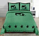 Texas Praying Cowboy Horse Star Western Quilt Bedspread Comforter Shams 3 Pc Set image