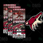 Arizona Coyotes Ticket Style Sports Party Invites $35.0 USD on eBay