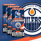 Edmonton Oilers Ticket Style Sports Party Invites
