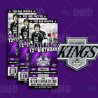 Los Angeles Kings Ticket Style Sports Party Invites