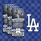 Los Angeles Dodgers Ticket Style Sports Party Invites on Ebay