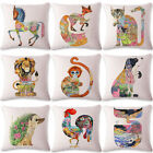 18'' Ukiyoe Abstract Cotton Linen Pillow Case Sofa Cushion Cover Home Decor