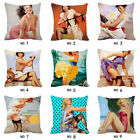 18'' Fashion Marilyn Monroe Cotton Linen Pillow Case Cushion Cover Home Decor