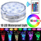Waterproof Submersible 10 LED Light RGB for Vase Wedding Party Fish Tank Decors