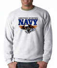 SWEATSHIRT Occupational United State Military Navy Tridents Eagle