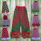 Christmas Holiday Red Green Stripe Polka Dot Argyle Leg Warmers