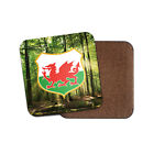 Wales Crest Cork Backed Drinks Coaster for Tea & Coffee #4242