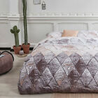 NEW Natural Leather Look Cotton Quilt Cover Set