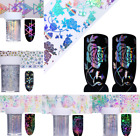 Holographic Nail Foils 4*100cm Christmas Rose  Transfer Stickers Tools