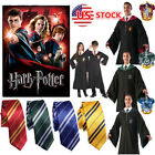 US Stock Cape Gryffindor/Slytherin/Hufflepuff/Ravenclaw Robe Cloak/Tie
