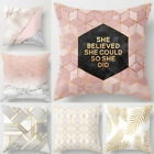 18'' Fashion Family Cotton Linen Pillow Case Sofa Cushion Cover Home Decor