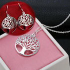 Tree of Life Charm 925 Sterling Silver Necklace Pendant Earring Bracelet Jewelry