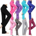 US Womens Yoga Pants Sports Trousers Exercise Jogging Pants