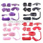 7pcs Restraint Set Cuffs Ball Gag Whip Rope Blindfold Collar Leash Kinky Toy