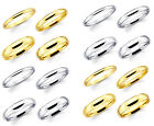Super Solid 14K Yellow and White Gold Yellow Elegant Fit Men Women Wedding Band