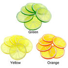 10X Lifelike Decorative Artificial Plastic Lemon Slice Home Decor Fake Fruit DIY