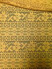 Retro Floral Pattern Soft Brushed Crochet Lace Polyester Fabric - 58 Inches Wide