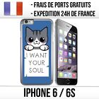 Coque iPhone 6 / 6S - Chat Want your Soul