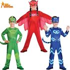 PJ Masks Costume Boys Girls Superhero Kids Child Fancy Dress OFFICIAL UK Outfit