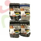 12 Men's Soft Cotton Jersey Button Fly Boxer Shorts Check Stripe Patterened LOT