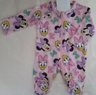 DISNEY MINNIE MOUSE Baby Girl licensed romper all-in-one zip coverall sz 0000-1