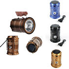 Solar Camping Lantern Lamp Portable Outdoor Rechargeable LED Tent Hiking ZW3&