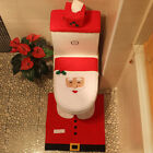 Winter Christmas Decoreations Toilet Sets Santa Claus Bath 3 PC Seat Rug Cover
