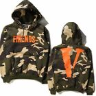 Men Women FRIENDS Print VLONE Staple Reversible Hoodie Hoody Camouflage Virgil