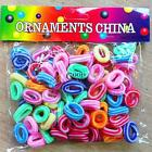 Children 100pcs Elastic Hair Ties Band Ropes Ring Ponytail Holder Accessorie QE4