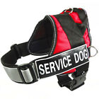 Service Dog Vest Removable Reflective label Patches Padded Heavy Duty Husky