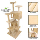 """52"""" Cat Tree Tower Condo Furniture Scratch Post Pet Kitty Play House Bed"""